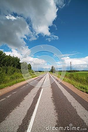 Road in Zemgale, Latvia.