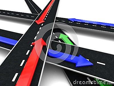 Roads cross