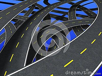 Roads (segmented strip)