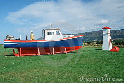 Roadside attraction of lobster boat