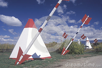 Roadside attraction of teepees Editorial Photography