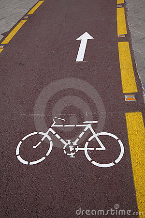 Roadside Bicycle Lane Detail
