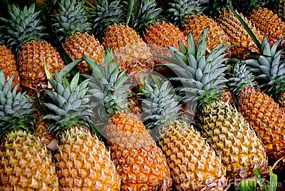 Roadside Pineapples Stock Photo - Image: 47640844