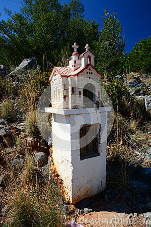 Free Roadside Shrine, Greece Royalty Free Stock Photos - 64278138
