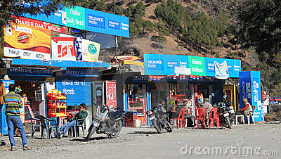 Roadside stores Editorial Stock Image