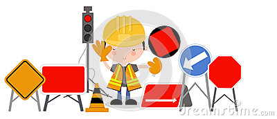Roadworks Guy and Traffic Lights