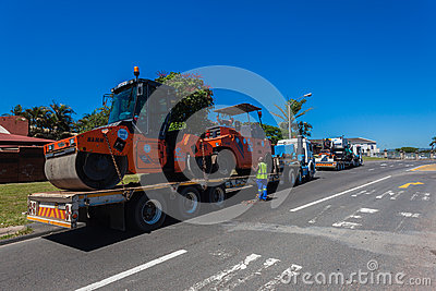 Roadworks Machines Trucking Editorial Photography