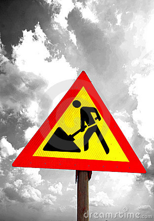 Roadworks Traffic Sign Abstract