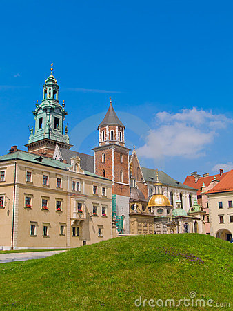 Roal castle at Wawel hill, Krakow, Poland