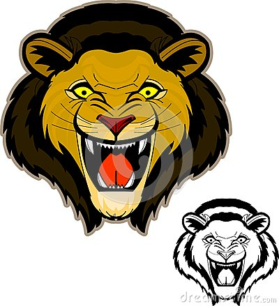 Roaring Lion Head Mascot