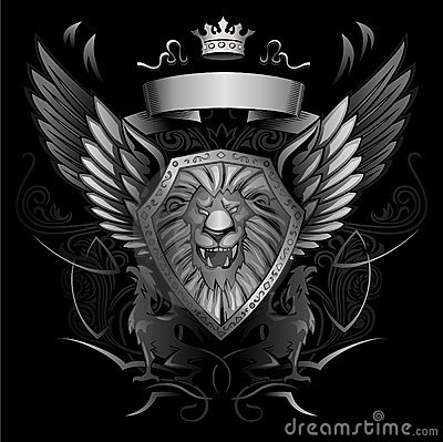 Roaring Lion Winged Shield Insignia