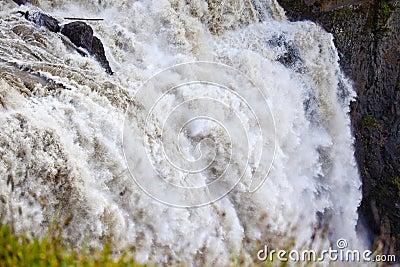 Roaring Snoqualme Falls Waterfall