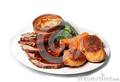 Roast Beef Dinner Meal