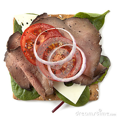 Roast Beef Open Sandwich