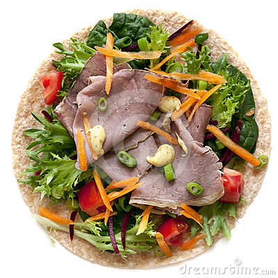 Roast Beef and Salad Wrap