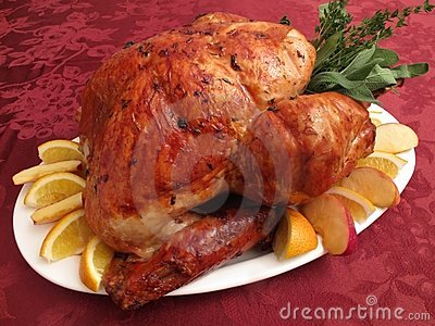 Roast Brown Thanksgiving Turkey