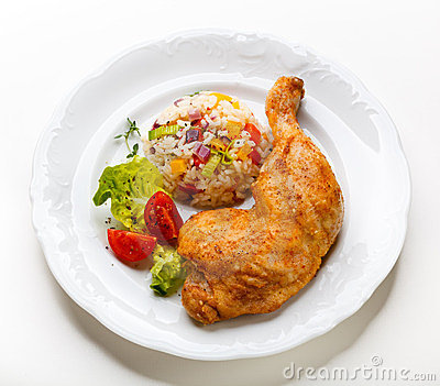 Roast chicken leg