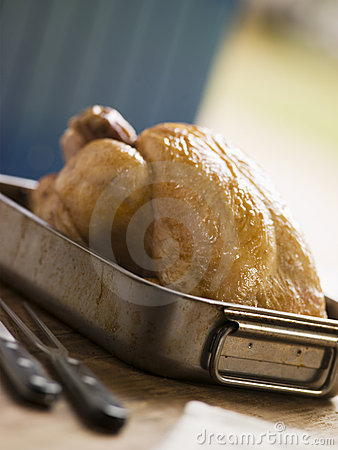 Roast Chicken in a Roasting Tray