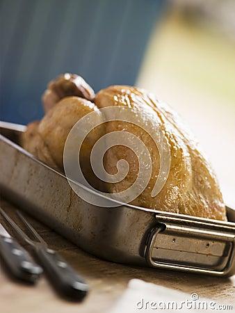 Roast Chicken in a Roasting Tray