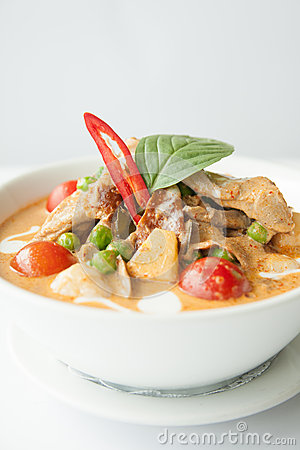 Free Roast Duck With Red Curry. Stock Images - 30060504