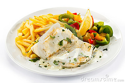 Roast fish fillet