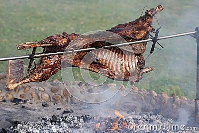 Roast Lamb on Spit