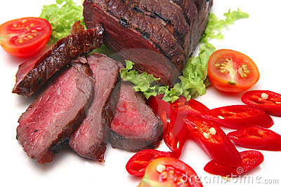 Roast meat and vegetables