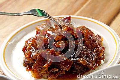 Roast pork .