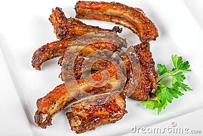 Roast rib pork