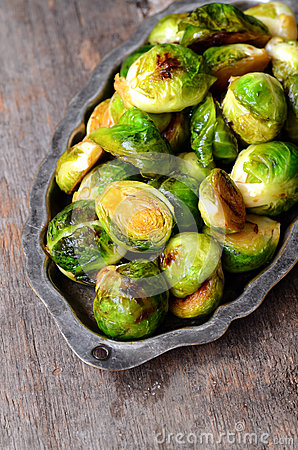Free Roasted Brussel Sprouts Royalty Free Stock Photo - 62597535