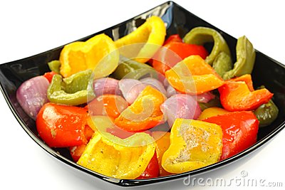 Roasted capsicum and onion
