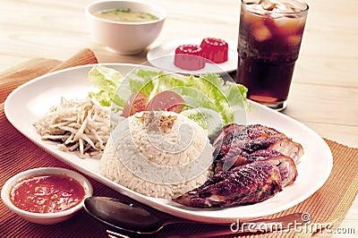 Roasted Chicken Rice set