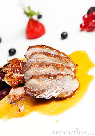 Free Roasted Duck Breast Fillet Stock Image - 16237881