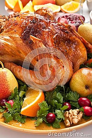 Free Roasted Holiday Turkey Royalty Free Stock Images - 15959949