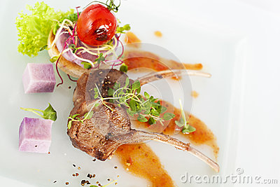 Roasted Lamb Chop Royalty Free Stock Photography - Image: 34425857