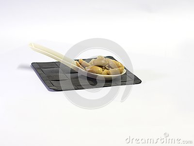 Roasted Peanuts in a Spoon