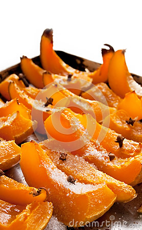 Roasted pumpkin with spice
