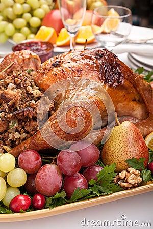 Free Roasted Stuffed Holiday Turkey Stock Images - 15959984