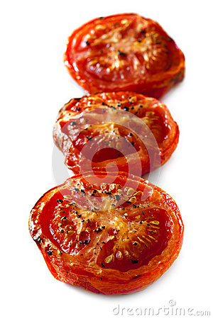 Roasted Tomatoes Isolated