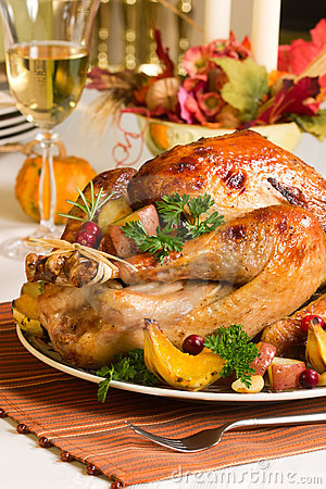 Free Roasted Turkey Stock Images - 3502864