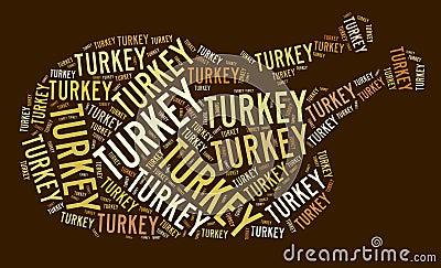 Roasted turkey illustration
