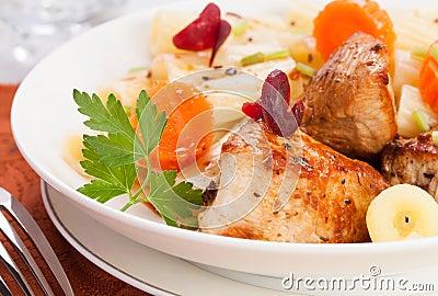 Roasted turkey meat