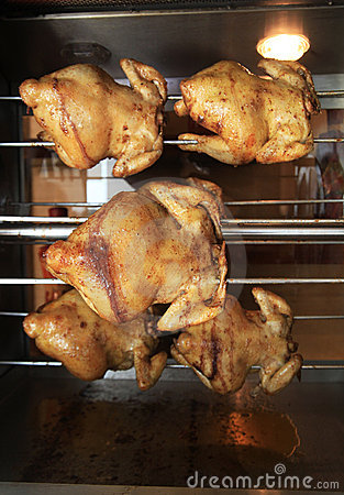 Roasting chicken in the oven