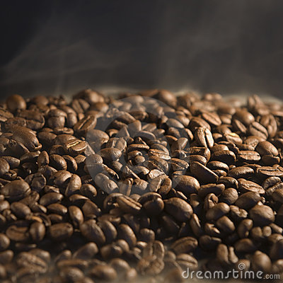 Roasting of coffee beans