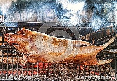 Roasting piglet