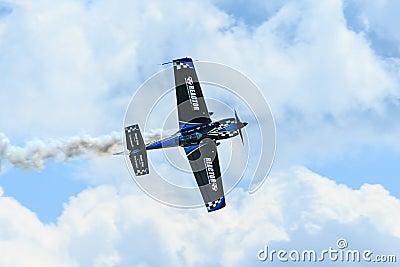 Rob Holland aerobatic pilot Editorial Photo