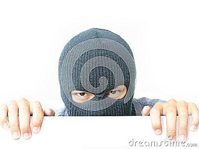 Robber hiding