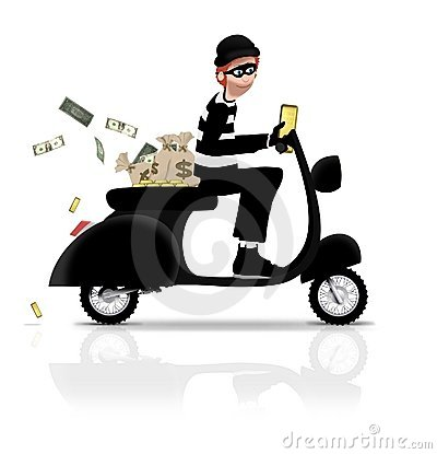 Robber on Scooter