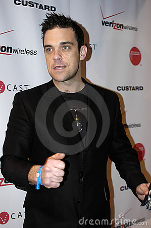 Robbie Williams on the red carpet Editorial Stock Image