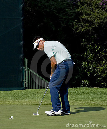 Robert Allenby - Putts Out Editorial Stock Photo